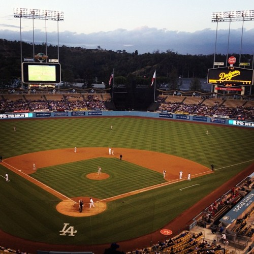 Doing sports things. #dodgers (Taken with instagram)