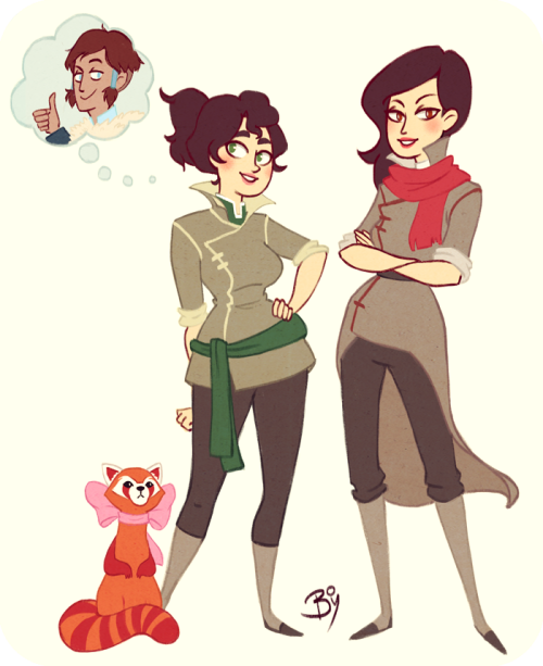 buttpilgrim:  boberryart:  That is all I could think for a first fan art… Sorry.   daaaaang  Oohh, look how pretty they are (especially Girl!Bolin).