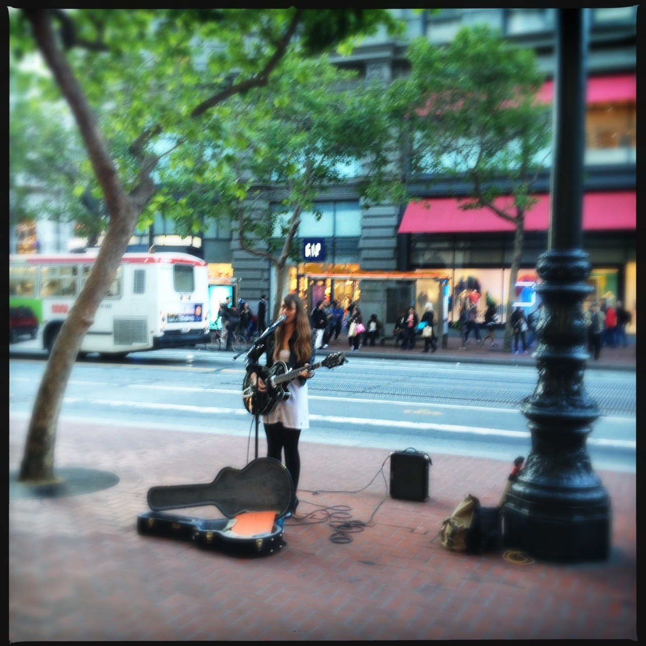 My favorite local singer Loftus Lens, DC Film, No Flash, Taken with Hipstamatic