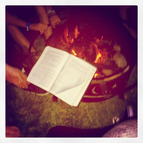 Just chillin, readin' the word. #chazaq #seasonfinale #bootlegfirepit (Taken with instagram)