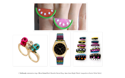 Lacquer Love got a cute little feature on Hanna Wears Prada. Colorful!