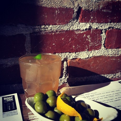 Evening light and tasty delights (Taken with Instagram at Boot and Shoe Service)