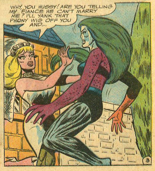 """Why, you hussy!"" Metamorpho #10 (January-February 1967)"