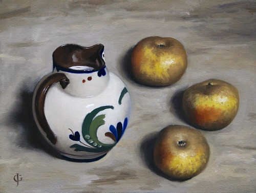 James Gillick Three Apples and a Jug of Milk 2012