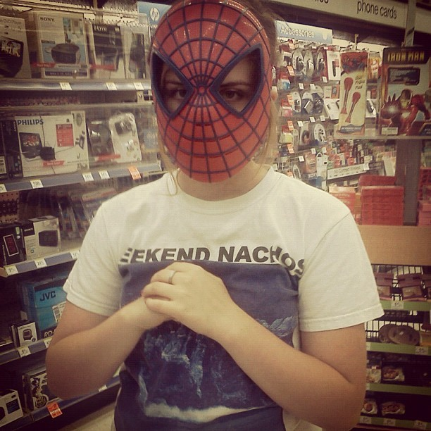 your-faces:  I'm just saying…#spiderman #hardstyle #me (Taken with instagram)