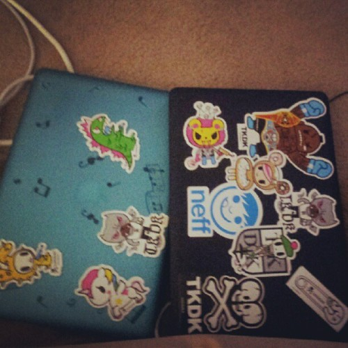 His and hers mac books…#swagg (Taken with instagram)
