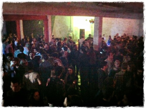 Over 600 peeps turned out in Lisbon to party with Tumblr and Vice in celebration of Portuguese Tumblr. About ten different bands played, the police showed up, and my ears are still throbbing. Bonus: death metal, death metal, death metal (not pictured).