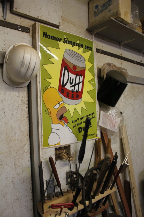 145/365: I like that Homer is always watching over me in my shop.