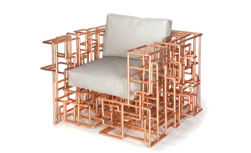 American Pipe Dream Chair by BRC Design Using mundane copper tubing to create something spectacular.