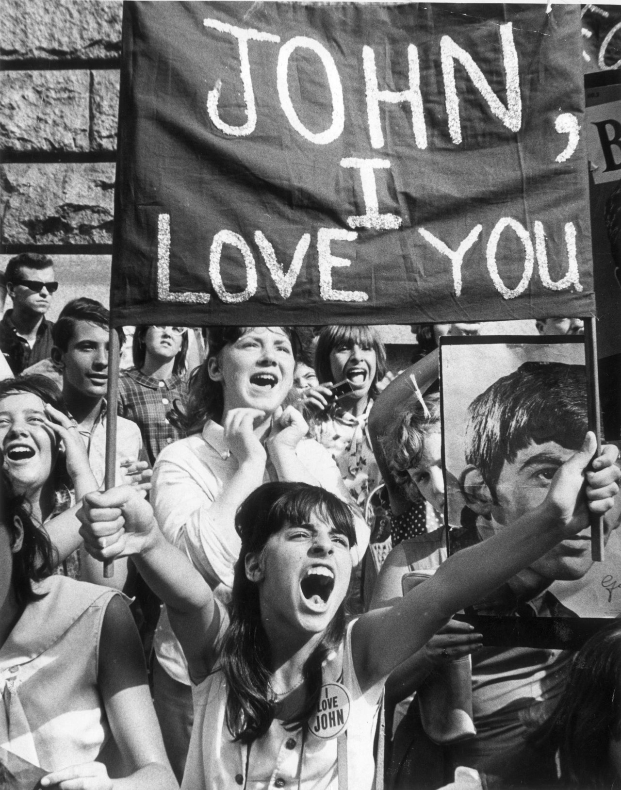 theswingingsixties:  Beatlemania  John I love you, I'm ever so fond of you Will you wait for me till I am heavenly? Oh there's much more to do But I love you Oh you're tender, you're name's a whisper I let tears fall like rain Apple sized they were over her And through all of those times when you could have died  This is what you find Theres life outside your mother's garden There's life beyond your wildest dreams There hasn't been any explosion We're not spinning like Dorothy If you look now then you will see Why don't be afraid to cry  This time dont let yourself die  John  I'll pick up those dancing shoes Kick off those wedding blues  These are the ways you can choose Child you're tender you're name's a whisper Theres life outside your mother's garden There's life beyond your wildest dreams There hasn't been any explosion We're not spinning like Dorothy If you look now then you will see Why don't be afraid to cry  This time dont let yourself die  John  I'll pick up those dancing shoes Kick off those wedding blues  These are the ways you can choose Child I love you I'm ever so fond of you