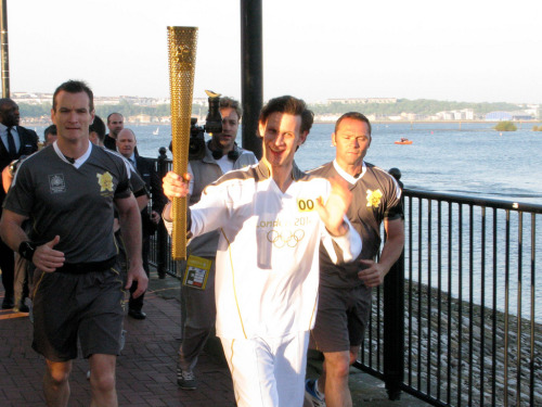 bbcamerica:  Doctor Who's Matt Smith Carries The Olympic Torch Photo credit @alun_vega
