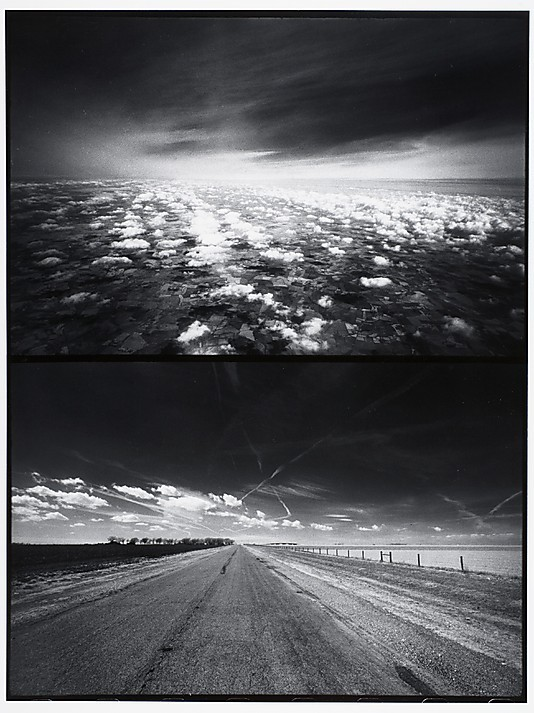 liquidnight:  Stephen Shore Clouds and Country Road, circa 1970 Gelatin silver print [From the Metropolitan Museum of Art]