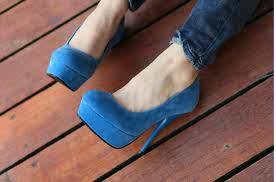 Blue Suede Platforms Still available R400.00*  *UK 37