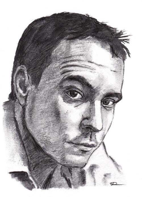 Dave Matthews (by request). Dark charcoal pencil over medium natural charcoal.