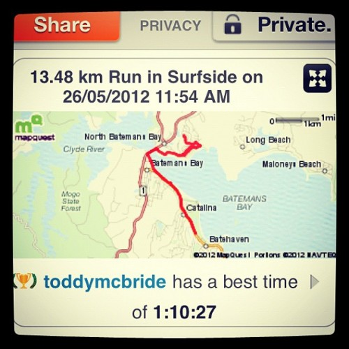 #wintertraining #home #fresh #fitasfuck #lol (Taken with Instagram at Batemans Bay)