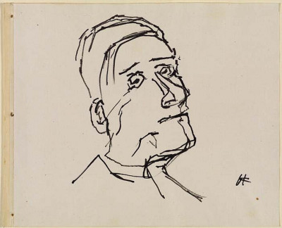 Self-portrait   Kokoschka, Oskar. The Samuel Courtauld Trust, London by renzodionigi on Flickr.