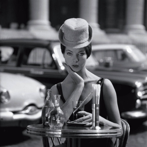 theniftyfifties:  Place de la Madeleine by Fred Brommet, 1956.