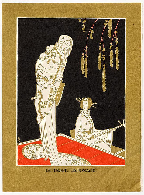 Benito, La Danse Japonaise, 1923 on Flickr.  Click image for 593 x 800 size.