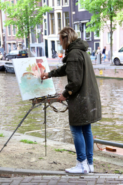 themodernexchange:  Fashion Population: Painting On The Street, Amsterdam