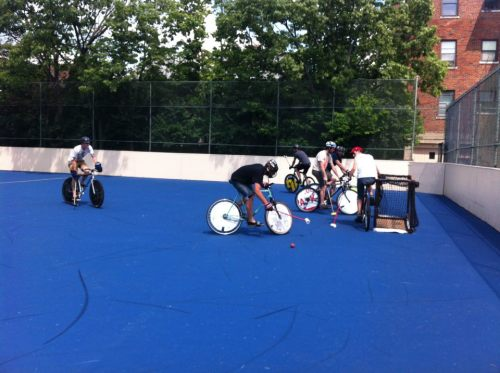 cyclecincy:  Cincinnati's new bike polo court - one of the first in the country, photo via Chris Seelbach