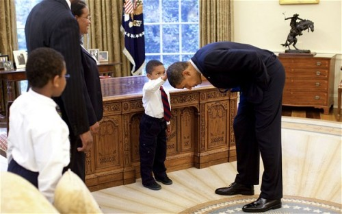 (via Story behind five-year-old touching Barack Obama's hair in the Oval Office revealed - Telegraph)