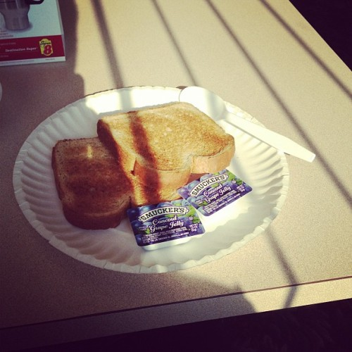 Super 8's famous SUPERstart Breakfast (Taken with instagram)