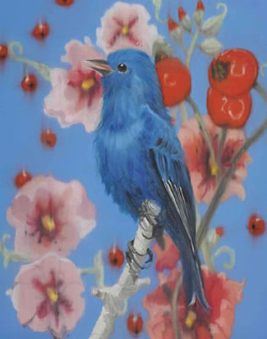 Blue smile - painting by Ann Craven more on my blog