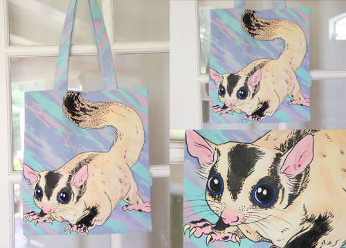 Haindpainted sugarglider tote bag available here: http://www.etsy.com/shop/ponyponypeoplepeople