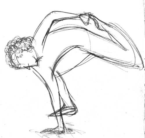 I was watching a video of a guy doing YOGA BREAKDANCING. It was so cool. So I decided to pause the vid and draw his pose.