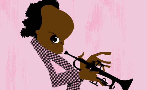 Happy birthday, Miles Davis! The jazz legend would have been 85 today – celebrate with this minimalist illustrated portrait by artist Jorge Arevalo.