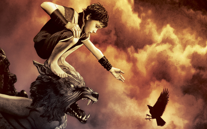 Game of Thrones artwork: Bran Stark Atop Winterfell. On IO9.