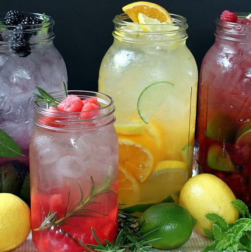 truebluemeandyou:  DIY Naturally Flavored Herb and Fruit Water Recipes. Lots of tips for making this cheap alternative to soda with simple recipes like: watermelon rosemary, pineapple mint, blackberry sage and others. Recipes and instructions from The Yummy Life here.