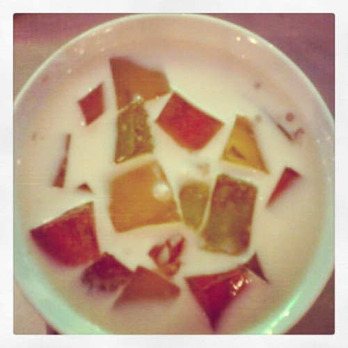 yummy and creamy sago't gulaman!:D (Taken with instagram)