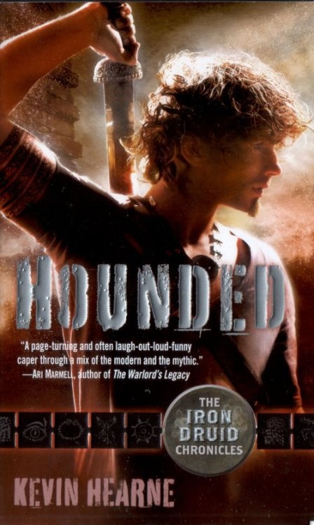 Just finished reading and reviewing Hounded by Kevin Hearne (click on the pic to get to my review).It's a lovely little urban fantasy novel, nothing too heavy but not too fluffy either. Atticus as character and narrator has a great sense of humor, with a mite less angst than Harry Dresden (which I kind of appreciate right now). Also love Oberon - especially since I'm one of those people who wishes she could know what her dog was thinking :D. Also really, really loved how magic is a learned skill, not something you're born with. I like how egalitarian that is :D.