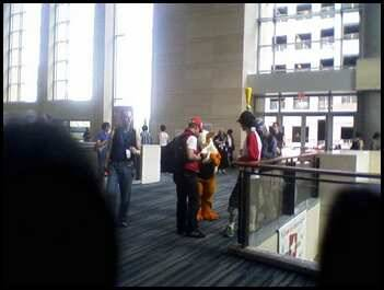 Went to my first Con - Animazement in Raleigh, NC. Much fun looking at all the amazing costumes but almost zilch in the way of knittery to ogle. Even less for sale amongst the vendors (one 'loom knit' Jayne hat and a couple of places had crocheted amigurami - nothing very imaginative). MUST MUST MUST get my act together and have a vendor booth next year!