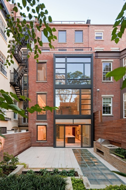 Greenwich Village townhouse renovation by Turett Collaborative Architects.