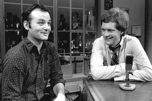 Bill Murray and David Letterman circa 1982  via flickr.com