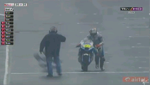 The best moment at MOTO2 2012