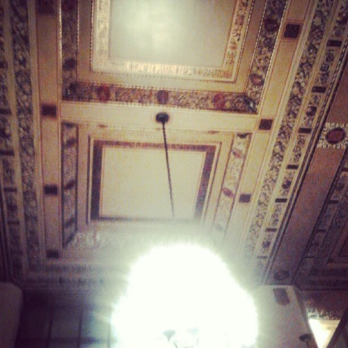 Tha lobby outside the Scottish Rite Theater after Jack White's concert. Isn't it beautiful? (Taken with instagram)