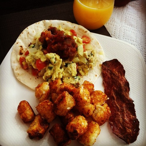 Made breakfast tacos for the hubby & I :) (Taken with instagram)