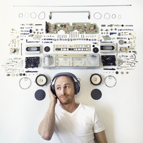 jaymug:  Exploded Speaker Portrait by Maddy Lucas.  Cool Idea