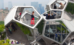 "Tomás Saraceno's ""Cloud City"" on the roof garden of the Metropolitan Museum of Art."