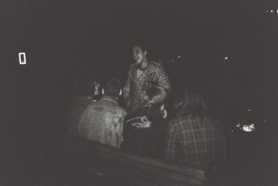 Friends. (black and white disposable)