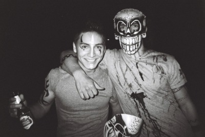 Housemates ready for Halloween 2011. (black and white disposable)