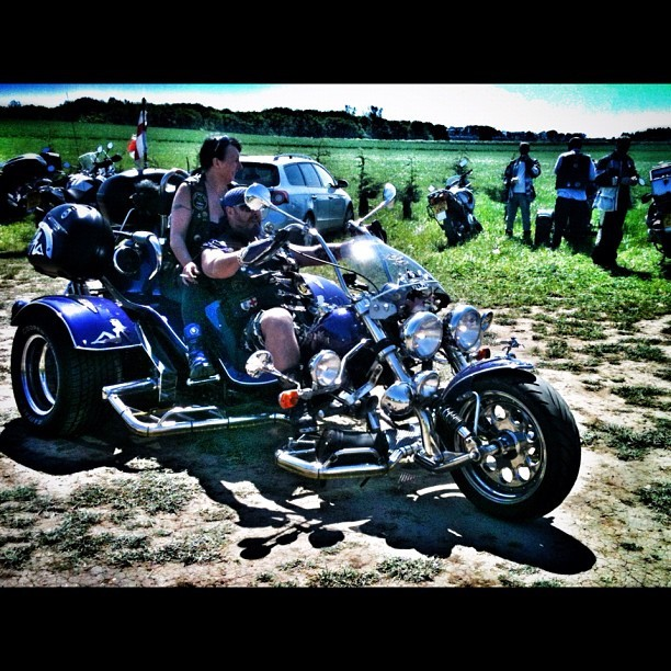 One of the trikes on the run #biker #mag #squires #instamotogallery  (Taken with instagram)