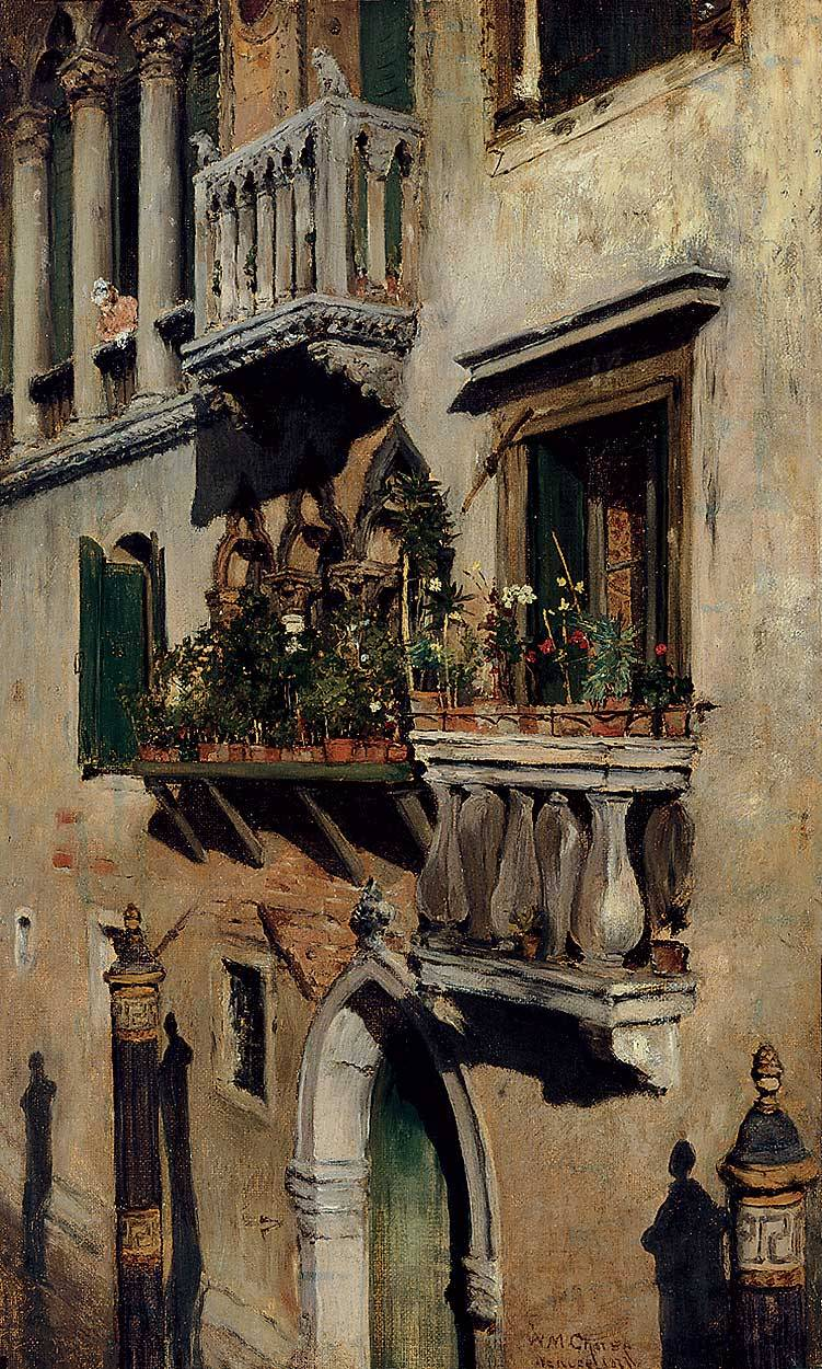 poboh:  Venice, 1877, William Merritt Chase. American (1849 - 1916)