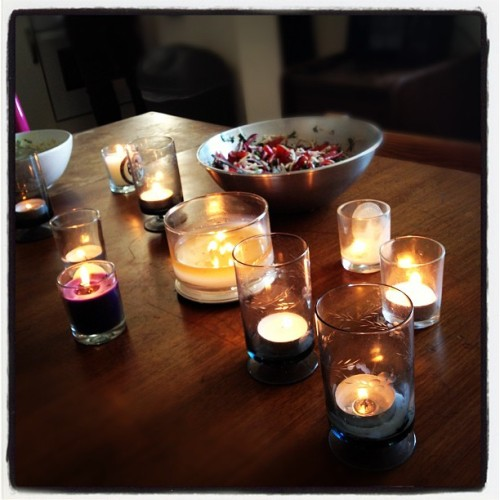 #entertaining #toomanycandles? #food #dinnerparty #home #lifestyle #decor (Taken with instagram)