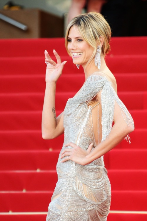 "Heidi Klum at the ""The Paperboy"" Premiere at the 65th Annual Cannes Film Festival"