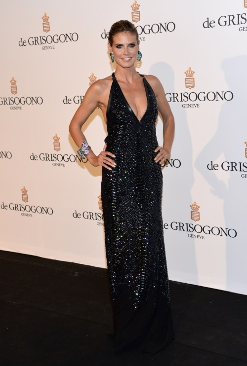 Heidi Klum at the De Grisogono Party at the 65th Annual Cannes Film Festival