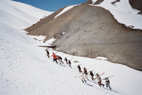 Afghan hike up a hill in Bamyan Province during a training to be ski instructors as the province strives to promote tourism in the area mountains. Photo: Jake Simkin The war in Afghanistan is not over. Help us tell the story. Fund our Kickstarter.